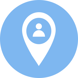 Location Marker with User in Circle icon